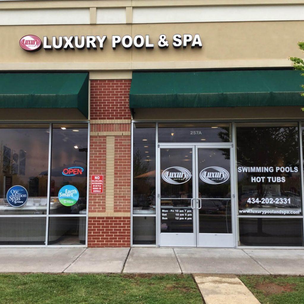 Charlottesville, VA hot tub storefront