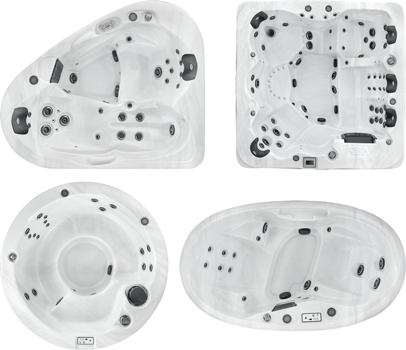 Selection of vita spas shapes and sizes