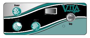Graphic of the Vita Spas 300 Series control pad