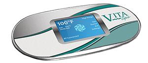 Graphic of the Vita Spas 700 Series control pad