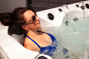 Woman relaxing and soothing muscles in a Vita Spa