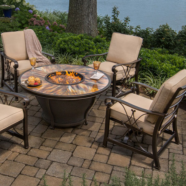 Emily Rose Bellus Fire Table at Hot Tubs by Hot Spring