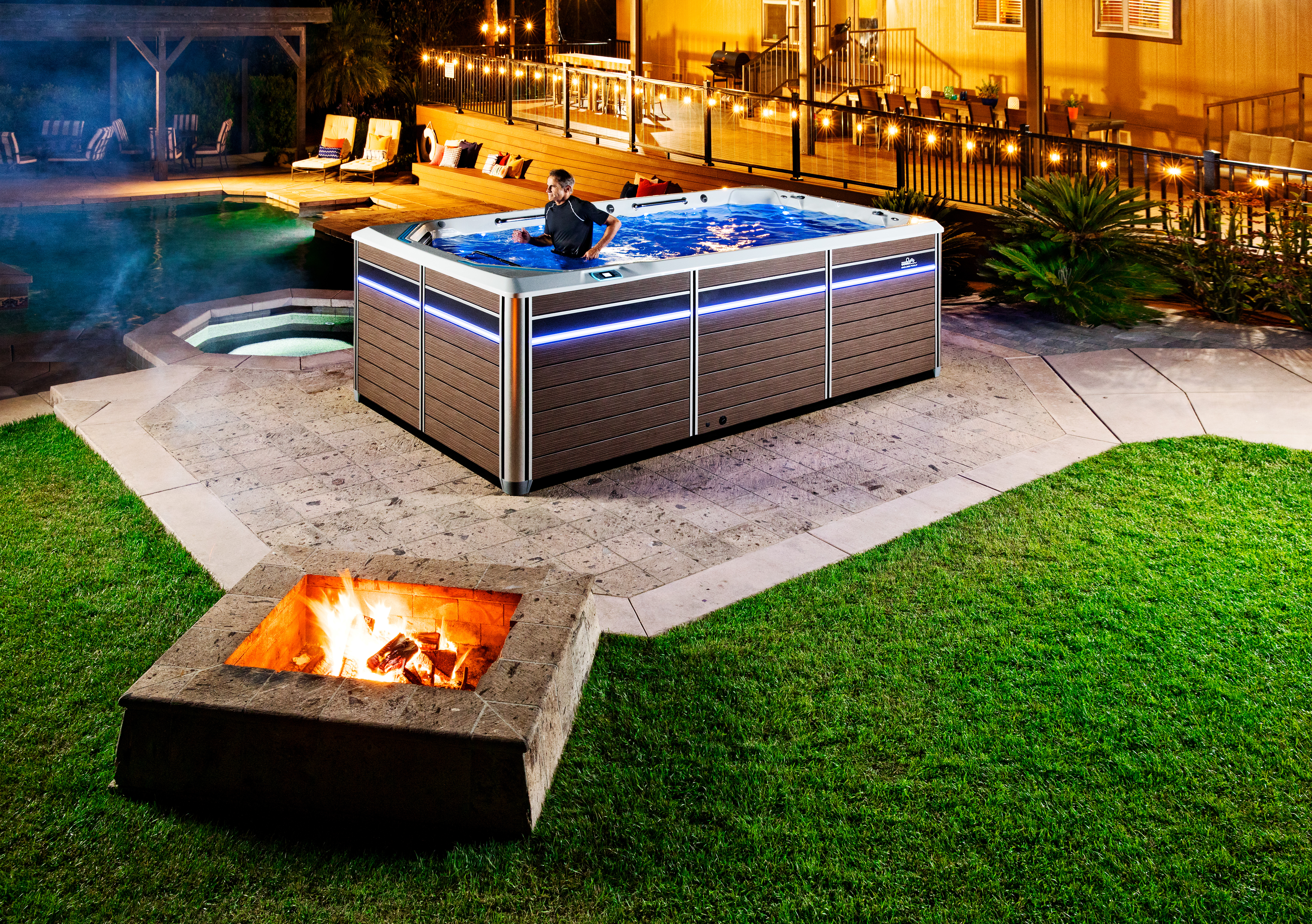 ESeries backyard install with firepit