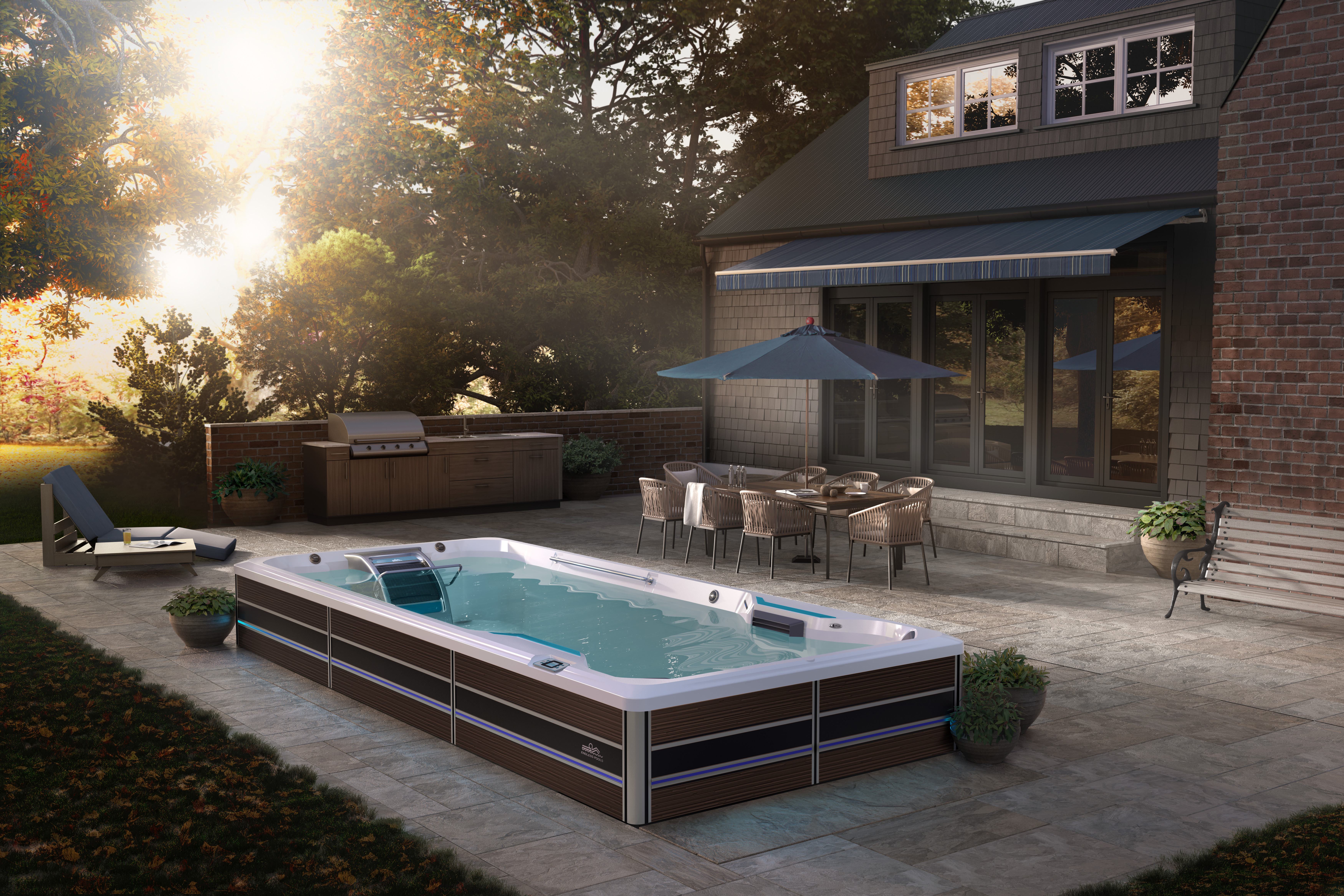 Endless Pool backyard install