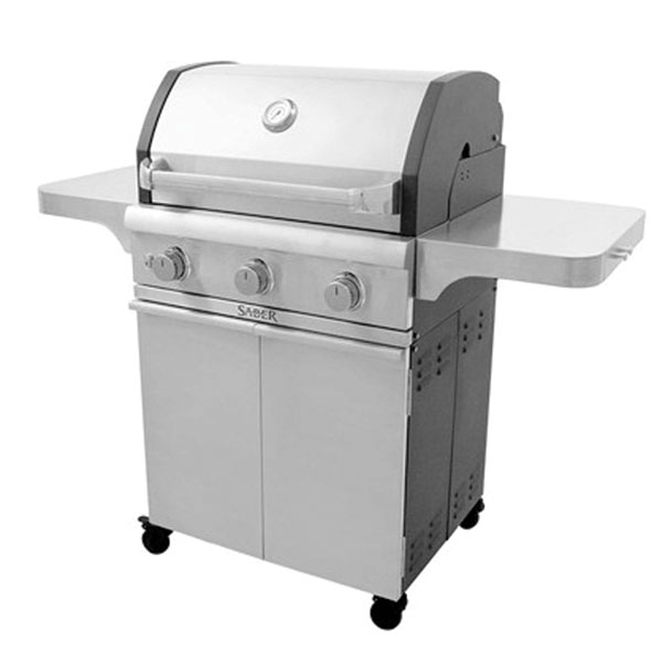 Saber Cast Stainless 3-Burner Gas Grill Family Image